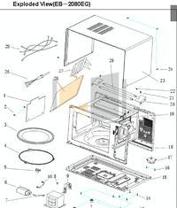 Mikrofala Haier EB 2080 - nie zamykają sie drzwiczki