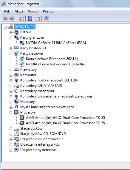 Vista Basic Home 32 - Brak d�wi�ku, brak mo�liwo�ci instalowania sterownik�w