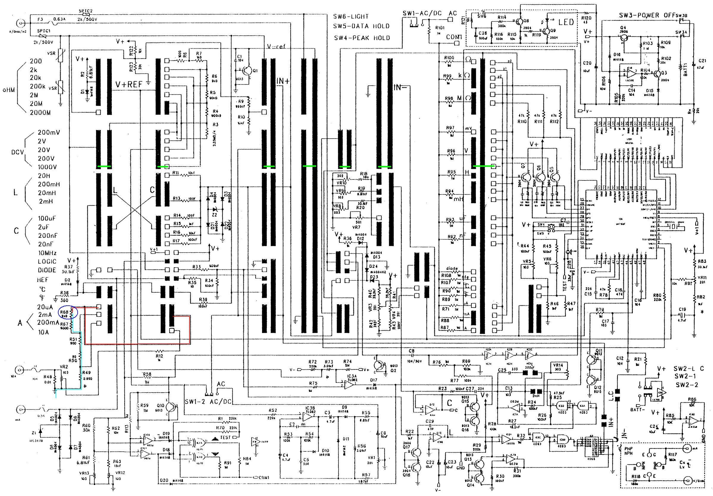 Multimetr UNI-T UT70A  �le mierzy