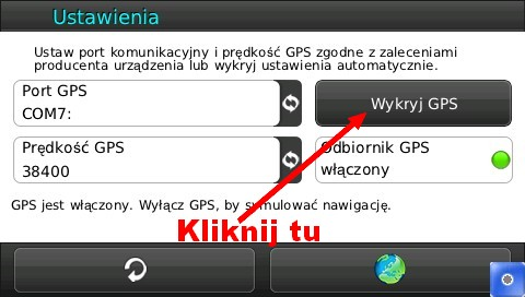 manta gps510msx - Nawigacja GPS510MSX jakie ustawienia gps wprowadzi�?