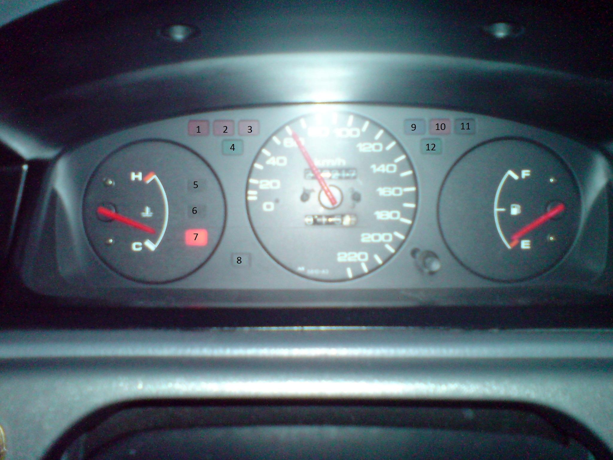 Honda Civic V 1.3 16v - Nieznane kontrolki na tablicy rozdzielczej (zegarach)