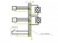 Oświetlenie ogrodowe jednocześnie pod czujnik PIR oraz włącznik manualny