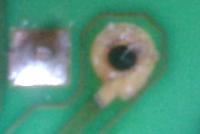 Amica AWST10L - sterownik urwane pola lutownicze diody