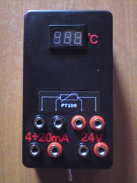 Miernik temperatury dla czujnika pt100