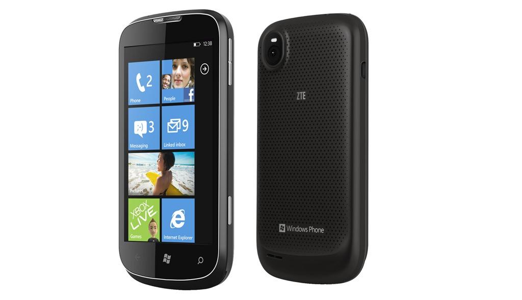 "ZTE Render - smartphone z 4"" ekranem, Snapdragon S1 i Windows Phone 7.5"