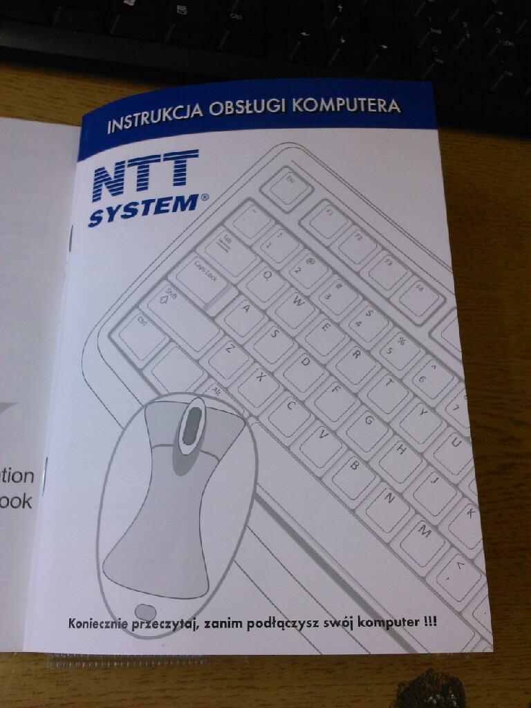 Szukam instrukcji obs�ugi komputera NTT