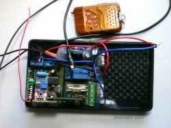 Alarm motocyklowy złożony z gotowych modułów