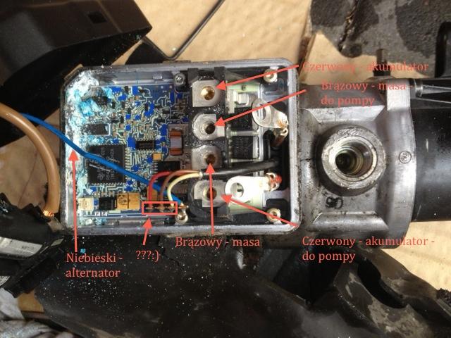 MB A160, automat, benzyna - Uk�ad sterowania elektryczn� pomp� wspomagania