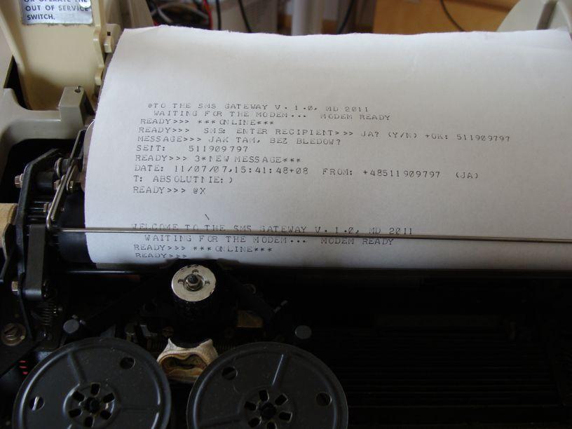 Oldschoolowa bramka SMS