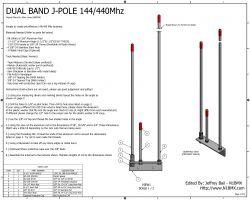 Antena J-pole czy Diamond X-50 - czy dam radę zbudować na 2 dane częstotliwości?