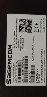 Brak połączenia WiFi. Router Sagemcom Orange