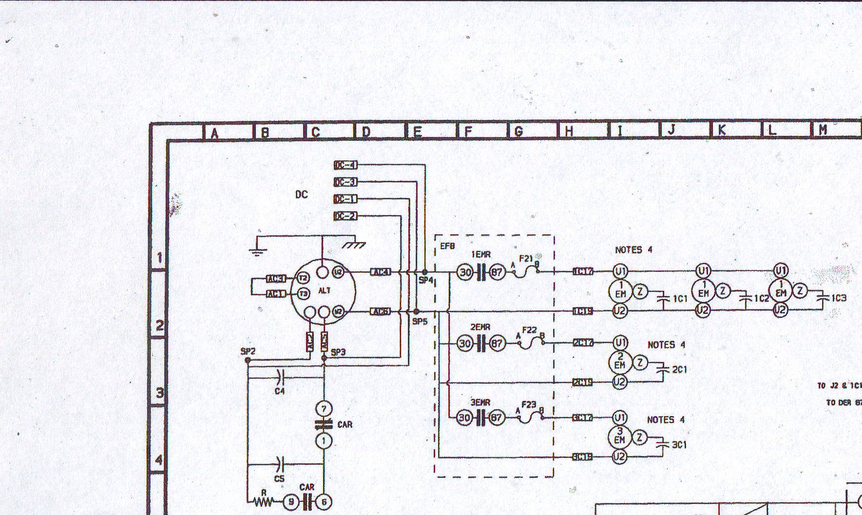 Generator pr�du zmiennego nie daje napi�cia.
