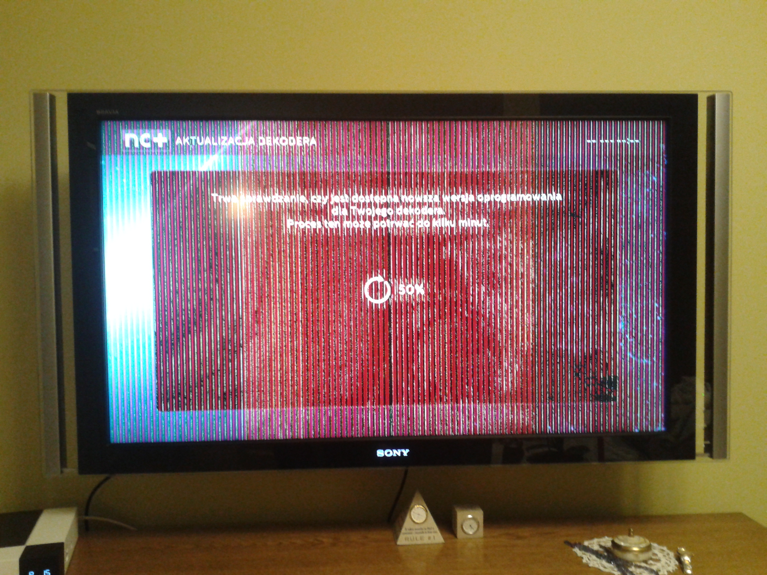 LCD TV Sony Bravia KDL-46X4500AEP - vertical stripes on the screen