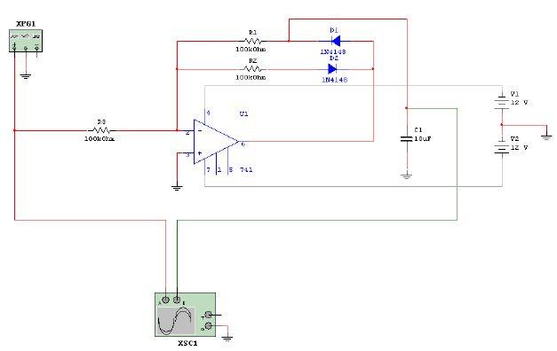 AVR EVB.4.3 ATmega32, pomiar napięcia prostokątnego 10kHz, 0-12VAC