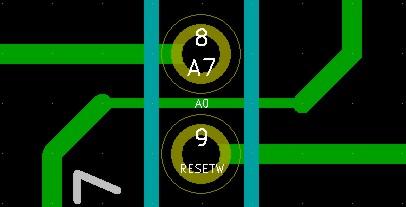 Projekt PCB - ścieżki. Płytka jednostronna i duża ilość połączeń.