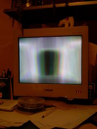 Monitor CRT Sony 17Multiscan E200 T płaski dziwny obraz