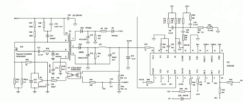 Codegen model:250X ATX2.03 (P4) wartość rezystora R16 na układzie SG6105G