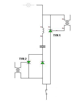 Urządzenie elektroniczne do sterowania tyrystorów.