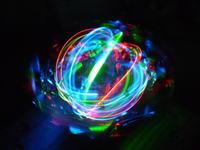Świecąca kula dyskotekowa z trzech diod LED
