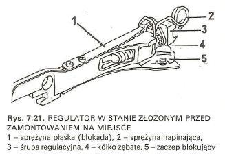 Fiat Punto 2 - Regulacja hamulca ręcznego po wymianie bębnów