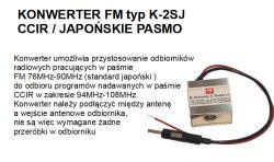 Sony FH-55W - przestrojenie radia na górne pasmo.