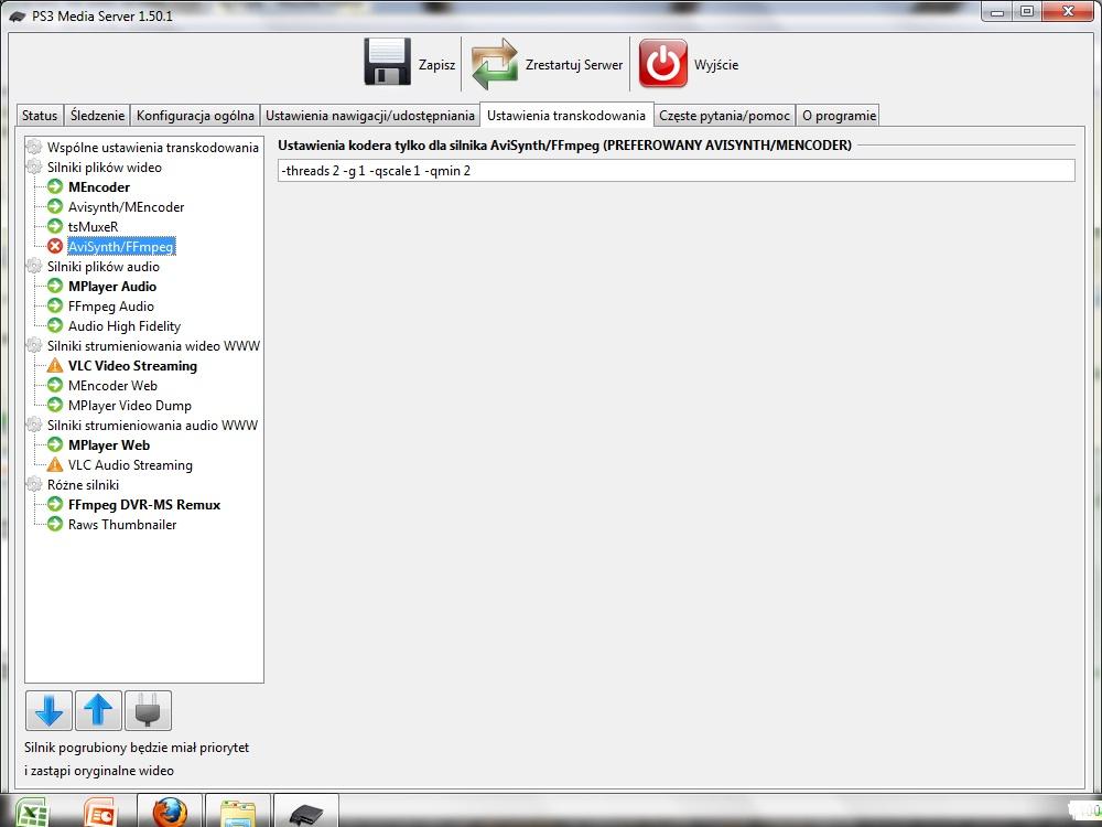 Panasonic Viera TX-P50G20E (VieraCast), nie widzi serwera DLNA z laptopa.