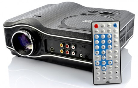 Multimedialny projektor CVXN-E207 LED z odtwarzaczem DVD od Chinavasion