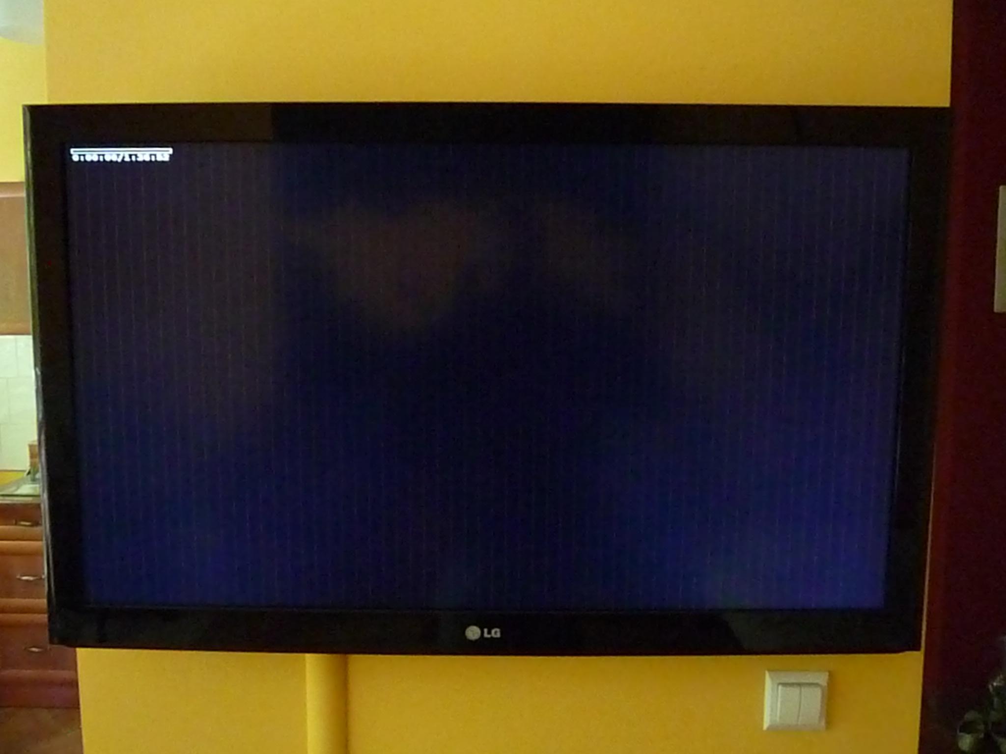 Telewizor LG 42LD550 Paski na matrycy