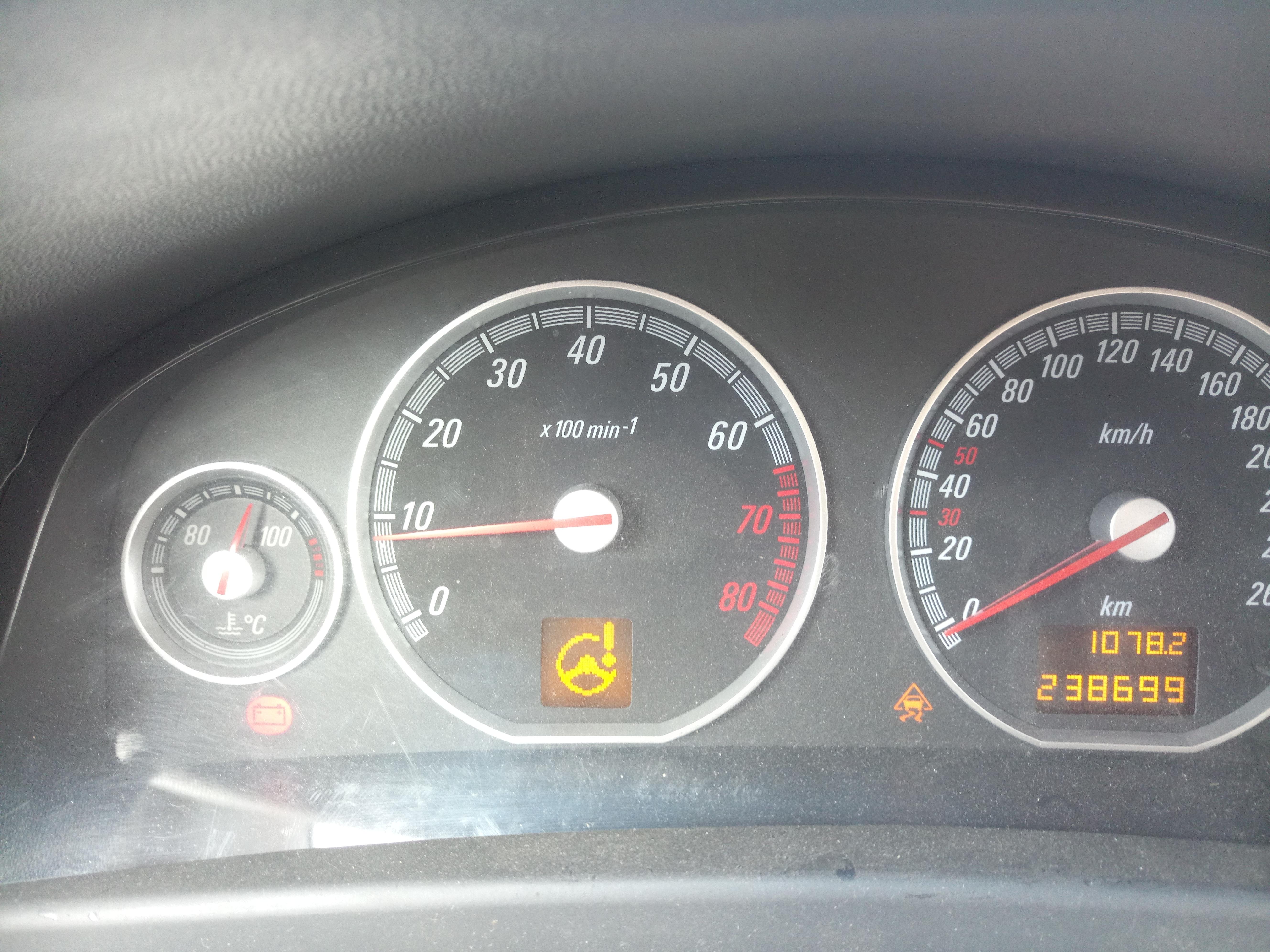 Kontrolki Opel Vectra - Moto
