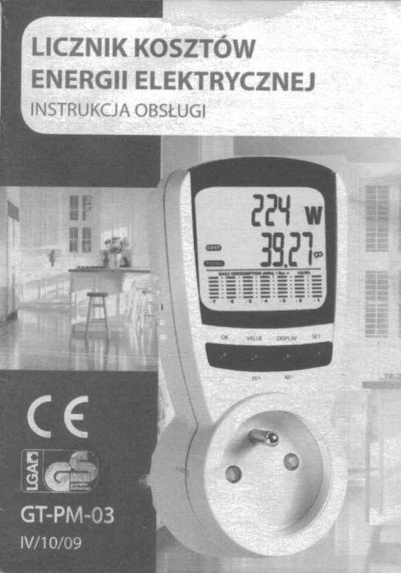 Miernik koszt�w energii GT-PM3 ALDI - instrukcja obs�ugi PL