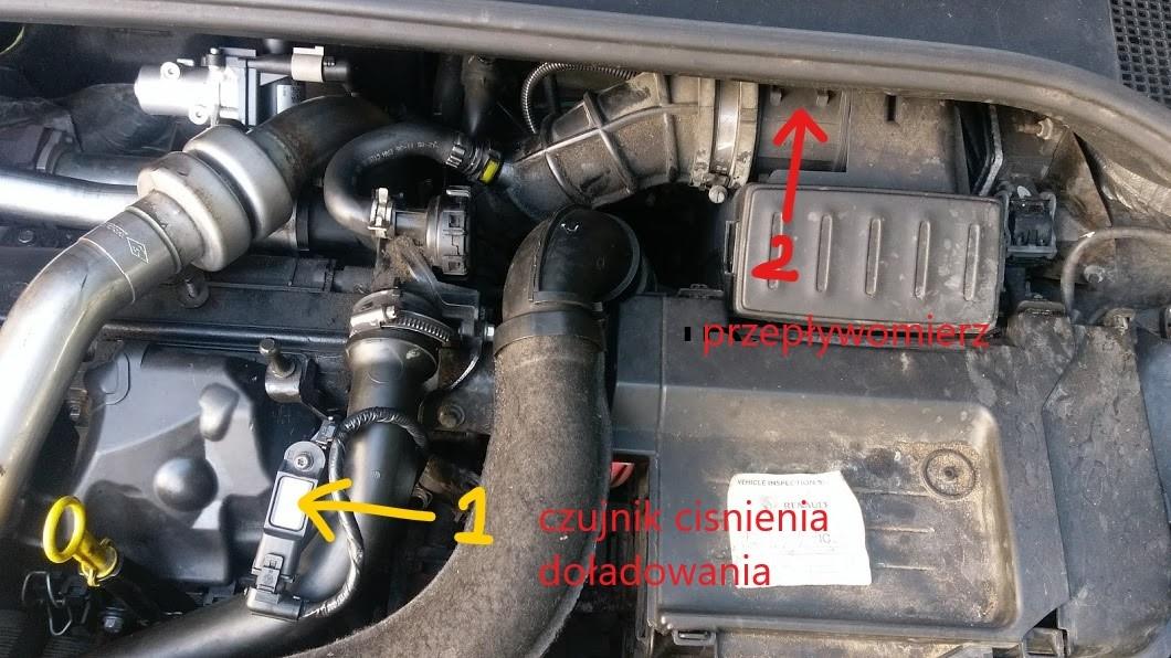 Renault Clio 1.5 DCI - dymi na biało po zapaleniu ...