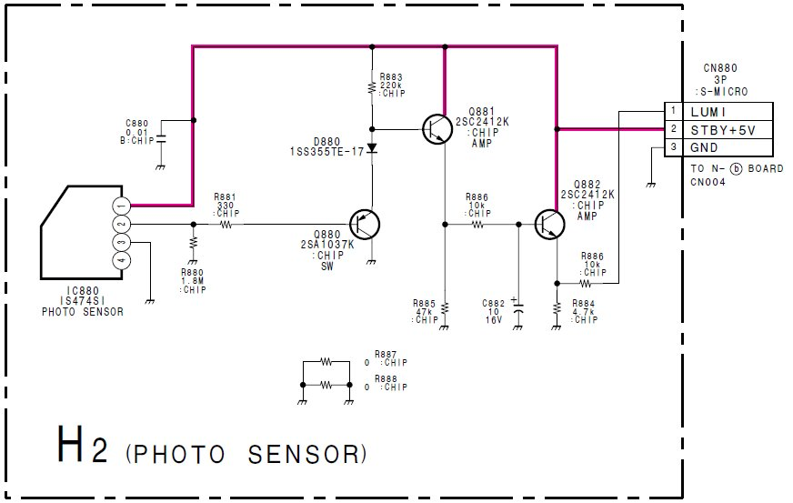 Detekcja b�ysk�w czerwonej diody, formowanie impulsu dla wej�cia INT w uP