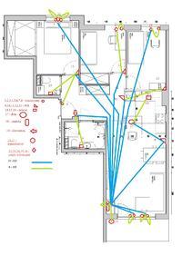 Schemat okablowania mieszkania - prośba o sprawdzenie i uwagi.