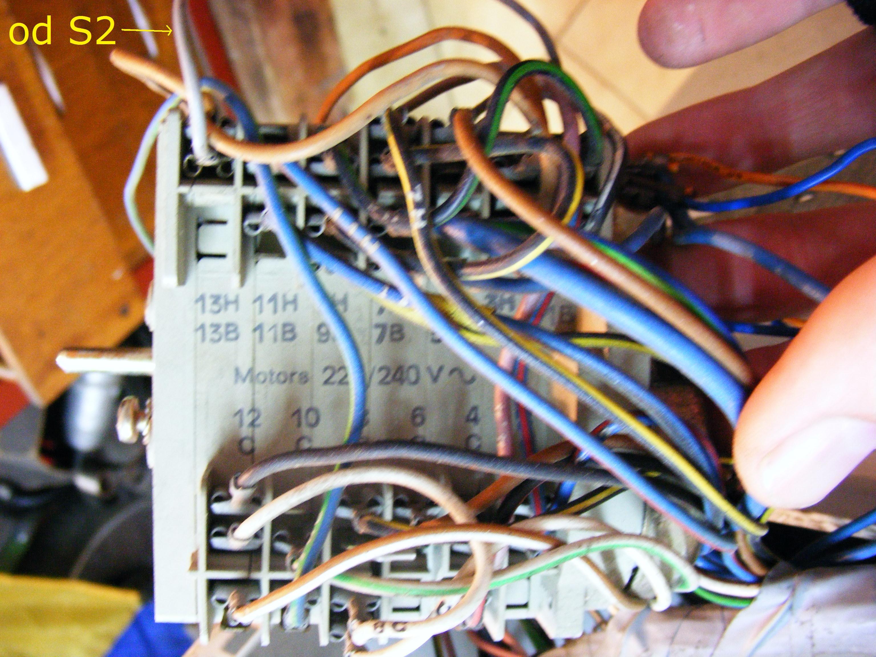 Pralka Miele W433, pod��czenie programatora