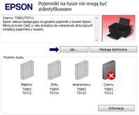 Epson SX 115 Nie widzi tuszu w żadnym kartridżu