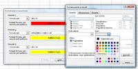 Excel 2010 - Reguły formatowania warunkowego zmiana koloru tekstu