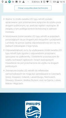 Żarówki H4 LED homologacja ?