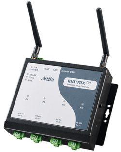 Matrix-704 - brama IoT z 4 zabezpieczonymi przeciwprzepięciowo portami COM