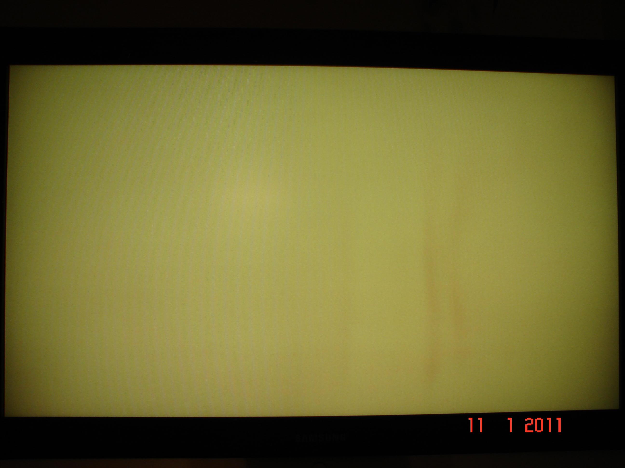 LCD SAMSUNG LE40S71B pionowe plamy przebarwienia.
