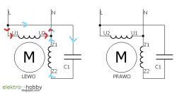 Jak wygląda wykres cewki po przesunięciu napięcia od kondensatora ? 1 fazowy