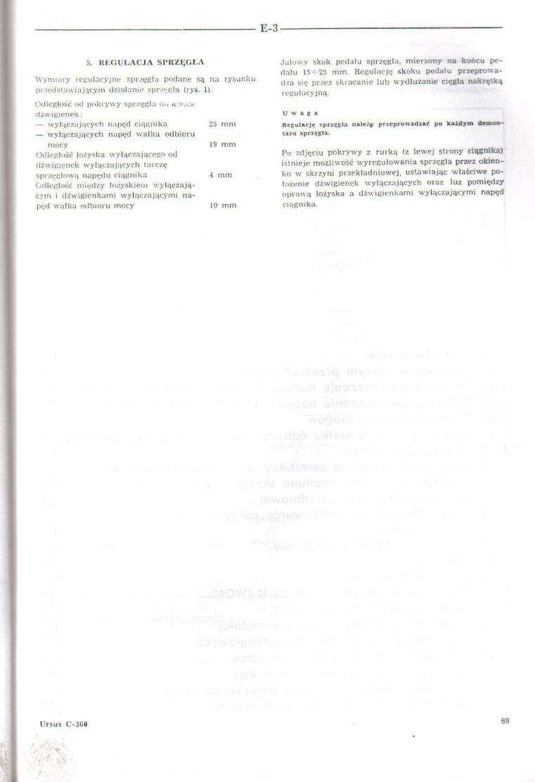 Nieprawid�owe dzia�anie sprz�g�a po wymianie w Ursus C360