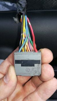Honda CRV III 2008 - Schamat kostki przycisku podnoszenia szyb