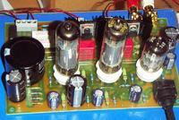 Wzmacniacz lampowy stereo SE na lampach EL84