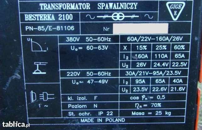 Kupno spawarki transformatorowej 200 A, do warsztatu.
