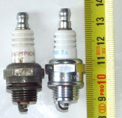 Kosa/pilarka PRC - model świecy a długość świecy, dobranie markowej