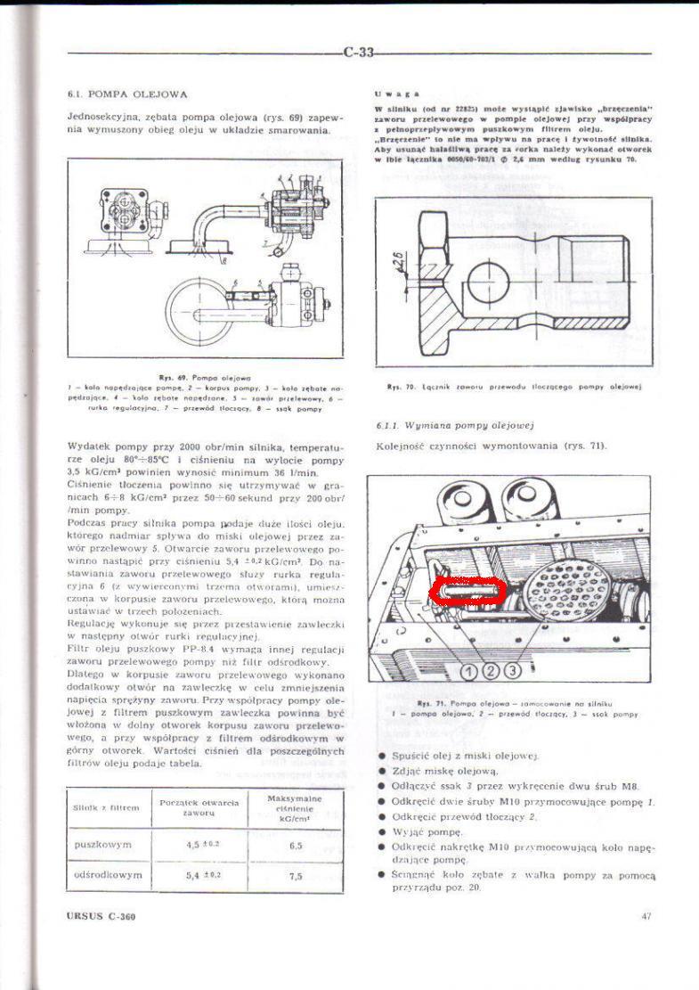 Ursus c-360 - Podw�jny filtr oleju-zamiana na pojedynczy.