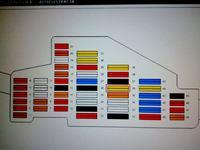 Mapa bezpieczników Seat Leon bkd 2.0 tdi