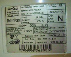 Lodówka Amica AZC4101 wyłączona 2 lata, po włączeniu mrozi do -30, a nie chłodzi
