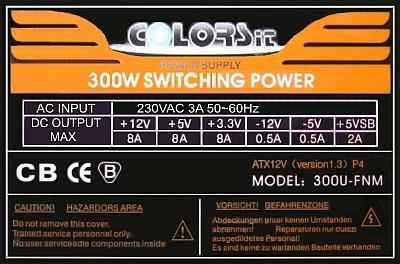 COLORSit model: 300U-FCM po burzy uszkodzonia po stronie pierwotnej zasilacza