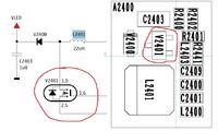 Nokia c2-02 - Po zalaniu brak reakcji lcd, świeci się dół